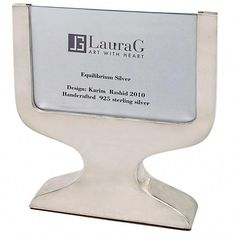 """For Sale on - Equilibrium silver is a square picture frame in silver 925 of Laura G """"Art with Heart."""" It is a very simple and modern piece and can be suitable to hold Flower Picture Frames, Small Picture Frames, Silver Picture Frames, Victorian Picture Frames, Handmade Picture Frames, Modern Design Pictures, Marble Pictures, Contemporary Bedroom Decor, Photo Frame Design"""