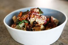 Roasted cauliflower salad with pickled grapes