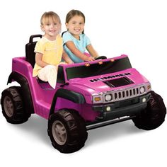 Christmas present? Kid Motorz Two-Seater Hummer H2 Girls' 12-Volt Battery-Operated Ride-On, Pink