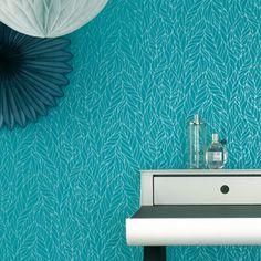 Papier peint végétal turquoise – Erismann
