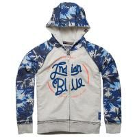 Indian Blue hooded sweatvest