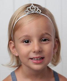 Another great find on #zulily! Silver & White Crown Headband by Lil Miss Sweet Pea #zulilyfinds