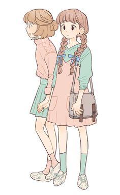 pinterest // jadynavery Mode Kawaii, Kawaii Art, Cute Art Styles, Cartoon Art Styles, Illustration Art, Illustrations, Estilo Anime, Art Reference Poses, Character Design Inspiration