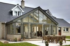 Five glass and timber extensions that will change the way you think about expanding your home - Mozolowski & Murray Folding Door Hardware, Folding Doors, Glass Extension, Conservatory, Bungalow, Extensions, Chrome, Exterior, Windows