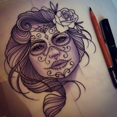For Rayann 😊 #tattoo #design #drawing #dotd #ladyface #neotraditional #ladytattooers #ukartist #plymouth #tattooworkers #tattooart #instadaily