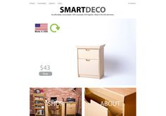 So cool!  Smart Deco furniture is 100% recyclable, fold together, super affordable & #MadeInTheUSA! http://www.smartdecofurniture.com