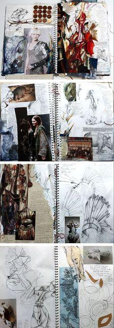 New Fashion Collage Design Sketch Books Ideas Sketchbook Layout, Textiles Sketchbook, Fashion Design Sketchbook, Fashion Design Portfolio, Sketchbook Inspiration, Fashion Sketches, Sketchbook Ideas, Art Sketches, Journal Layout