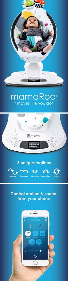Top 5 Baby Bouncers and Jumpers. This rocker is bluetooth enabled so you can control the motion and sounds from four smart phone. It bounces up and down and swings side to side just like Mom when she is holding baby. Then you can select from five unique motions, like car ride and tree swing, and five different speeds. It has four unique sounds or you can connect to a MP3 player.