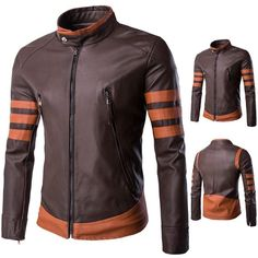- Product Type: Wolverine Leather Jacket - Age Group: Adults, Teenagers - Material: PU leather, Cotton, Polyester - Inner lining: Down Feather - Feature: Zipper, Anti-wrinkle, Breathable, Waterproof -