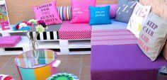 Terrazas coloridas y originales