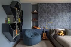 Room to grow – space-saving solutions and decorating tips to update your child's bedroom - Roselind Wilson Design Bedroom Setup, Boys Bedroom Decor, Room Ideas Bedroom, Blue Bedroom, Teen Bedroom, Luxury Kids Bedroom, Modern Bedroom, Home Room Design, Kids Room Design