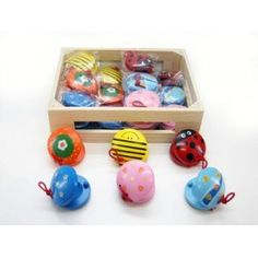 Kaper Kidz - Mixed Wooden Castanets: These adorable wooden musical castanets by Kaper Kidz are the perfect partner to the mini maracas! #alltotstreasures #kaperkidz #mixedwoodencastanets #woodentoys #musicalinstruments #music #castanets