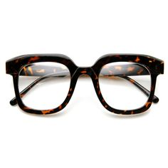 Modern Square Optical RX Frame Clear Lens Glasses - zeroUV