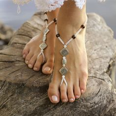Beautiful jewelled silver, amber bead and pearls. Barefoot anklet sold as pair. Boho style: 'Cortez B1408'