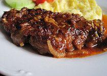 Zapečená krkovička v marinádě Happy Foods, Steak, Cooking Recipes, Beef, Vintage, Cooking, Meat, Chef Recipes, Steaks