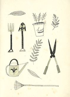 Gardening tools by Katt Frank