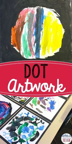 """Looking for ways to help your students express their creativity? Combine literacy and a fun craftivity with artwork inspired by famous children books and authors like """"The Dot"""" by Peter H. Reynolds! Pre-K, Kindergarten, and young students alike will lov"""
