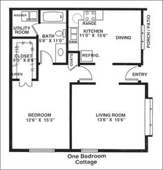 exceptional one bedroom home plans #10 1 bedroom house plans