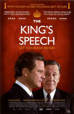 The King's Speech: heart-warming movie, but please do see the R-rated version. It's (my opinion only) funnier and much more meaningful.
