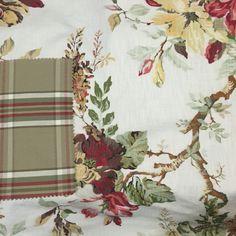 Tecidos: floral e xadrez, estilo ralph lauren