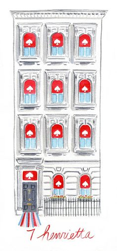 Kate Spade store watercolored by Caitlin Mcgauley. Great illustrator. Incorporate somehow.