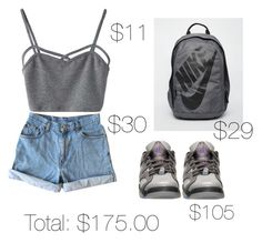 """""""#under$200"""" by lovermonster ❤ liked on Polyvore featuring WithChic, Levi's and NIKE"""