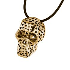 Gold Perforated Skull Necklace #fashion #jewellery #designer #style #necklace #pendant #greekdesigners #jewelry