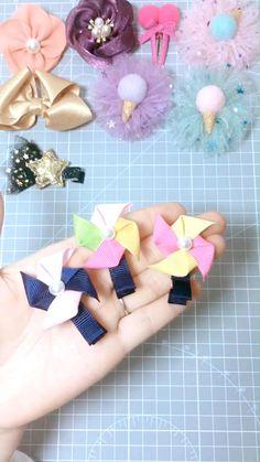 Handmade Hair Bows, Diy Hair Bows, Making Hair Bows, Diy Bow, Ribbon Headbands, Ribbon Hair Bows, Diy Headband, Ribbon Art, Diy Ribbon