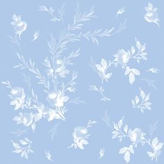 """""""Theodora"""" in blueberry blue, by LilyOake. Available in wallpaper, fabric and wrapping paper on Spoonflower. http://www.spoonflower.com/fabric/2054777"""