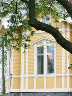 Old Yellow House in Kuopio, Finland.