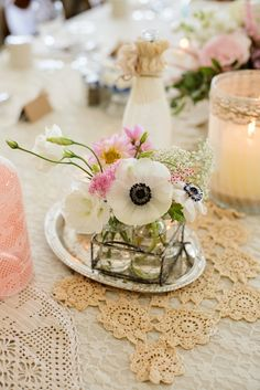 White Poppy Centerpiece