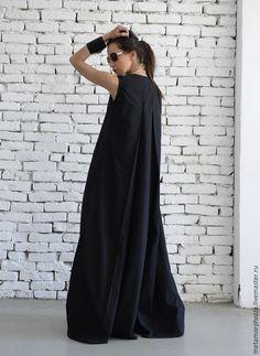 Купить САРАФАН Black Maxi - черный, платье, Платье нарядное, платье в пол, длинное платье