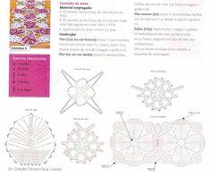 Caminho de mesa em croche com rosetas - CROCHE COM RECEITAS