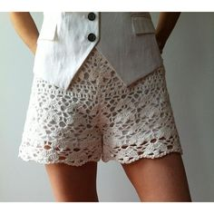 Sauciest crochet patterns: Floral shorts by Vicky Chan Designs via Love Crochet