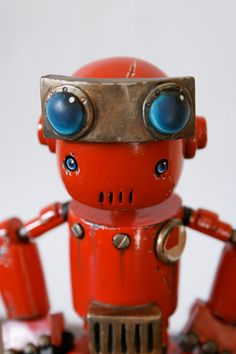 Scale model robot, Rusty Robot Minion, by Space Cow Smith. Pinned by #relicmodels