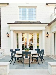 New Ideas For House Exterior Ideas Brick Patio Exterior Paint, Exterior Design, Brick Design, Exterior Colors, Outdoor Rooms, Outdoor Living, Houses Architecture, Architecture Portfolio, French Architecture