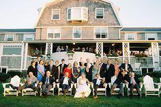 inn wedding reception with a cocktail hour