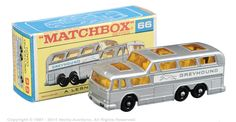 Matchbox Regular wheels No.66c Greyhound Coach.