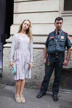 Milan Fashion Week street style [Photo by Kuba Dabrowski]