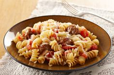 Quick & Cheesy Sausage Rotini recipe