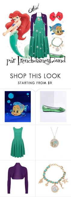 """""""Ariel (the little mermaid)"""" by frenchdisneybound ❤ liked on Polyvore featuring Disney, WearAll, disney, thelittlemermaid and disneybound"""