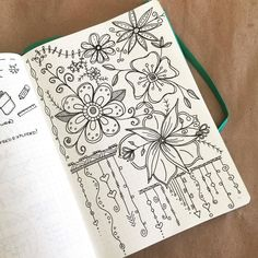 Just practicing some early morning doodles and dangles  I wouldn't consider my Bullet Journal an art journal but I do love to do these rough sketches before going larger scale with them. by boho.berry