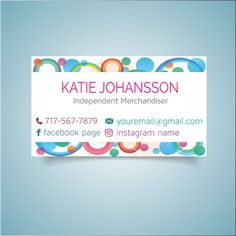 Chloe isabel business cards chloe and isabel business card chloe customized dot dot smile business card printable digital colorful business cards dds business card rainbow printable card 076 colourmoves