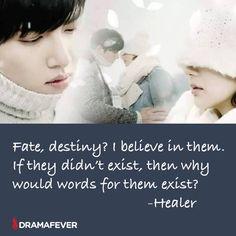 K words ❤ Fate Quotes, K Quotes, Drama Film, Drama Movies, Healer Kdrama, Korean Drama Quotes, Kdrama Memes, Proverbs Quotes, Movie Lines