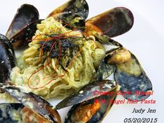 C.A.K.E.: 奶油淡菜義大利麵Creamy Garlic Mussel With Angel Hair Pasta 05/20/2015