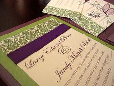 Purple and Green Wedding Invitation | Flickr - Photo Sharing!