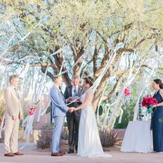A breeze makes the streamers dance during the ceremony ~ we ❤ this! moncheribridals.com
