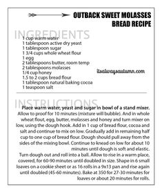 Love the soft brown bread at The Outback Steakhouse? Now you can make it at home with my Outback bread recipe. Outback Sweet Molasses Bread - steakhouse sweet brown molasses bread recipe (just like outback! Olive Garden Breadsticks, Garlic Breadsticks, Breadsticks Recipe, Sweet Molasses Bread Recipe, Sweet Bread, Bread Machine Recipes, Bread Recipes, Cooking Recipes, Cooking Bread
