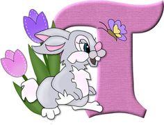 Alfabeto del conejito Tambor  de Disney...T