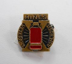 Hines Veterans Hospital Lapel Pin - Vintage -Red Enamel - VA Hospital - Illinois 13886 by QueeniesCollectibles on Etsy